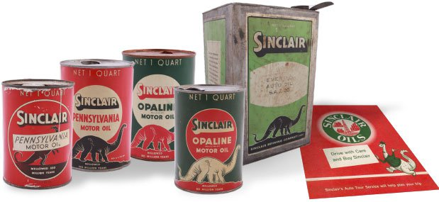 Sinclair Motor Oil Cans